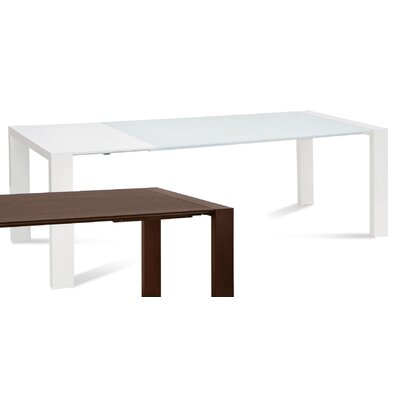 Fashion Dining Table Finish White High Glossy Lacquered Extra White glass