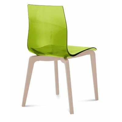 Gel-L Solid Wood Dining Chair Finish: Transparent Green