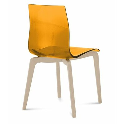Gel-L Solid Wood Dining Chair Finish: Transparent Orange