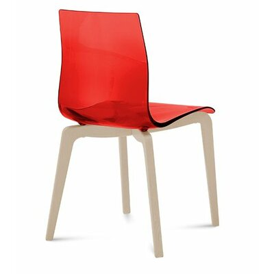 Gel-L Solid Wood Dining Chair Finish: Transparent Red