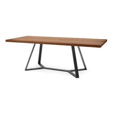 Domitalia Archie-L-240 Dining Table - Frame: Anthracite, Top: Walnut