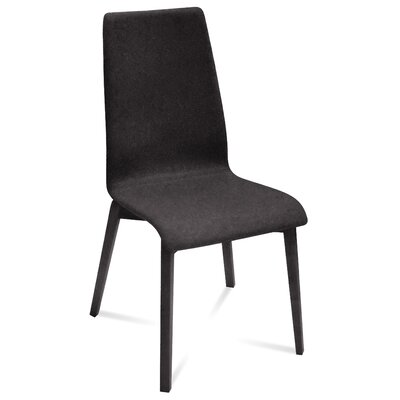 Jill-L Side Chair (Set of 2) Finish: Anthracite, Upholstery: Skill Black
