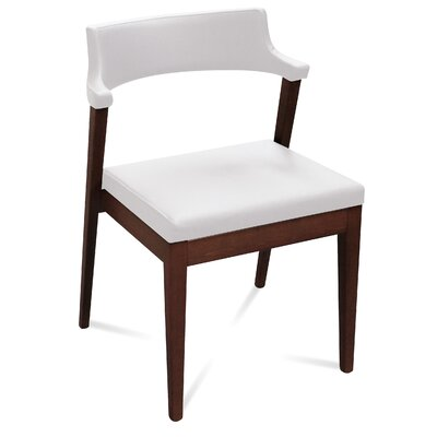 Lyra Side Chair (Set of 2) Finish: Wenge, Upholstery: White