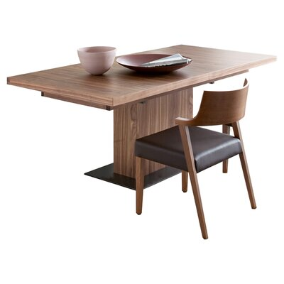 Vita Extendable Dining Table Table Finish: Walnut