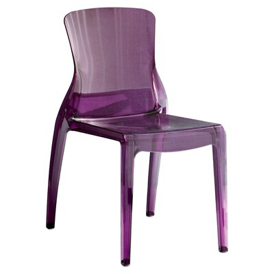 Crystal Side Chair (Set of 4) Seat Color: Transparent Purple