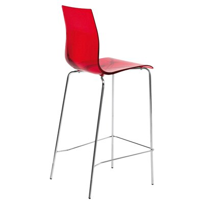 Gel 27.3 Bar Stool Upholstery: Transparent Red