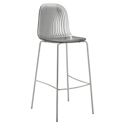Playa 26.5 Bar Stool Upholstery: Transparent Smoke