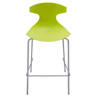 Echo 29 Bar Stool Upholstery: Green