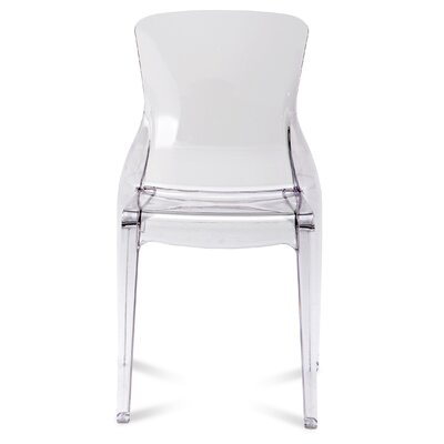 Crystal Side Chair (Set of 4) Seat Color: White