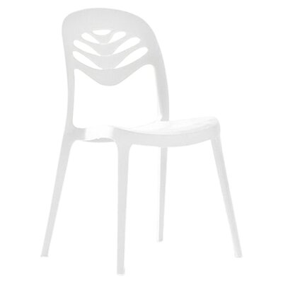 ForYou2 Stacking Side Chair (Set of 4) Finish: White
