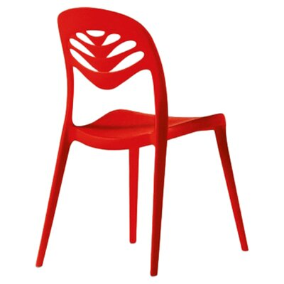 ForYou2 Stacking Side Chair (Set of 4) Finish: Red