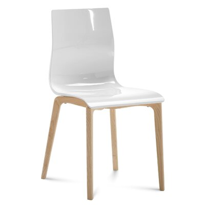 Gel-L Solid Wood Dining Chair Finish: White