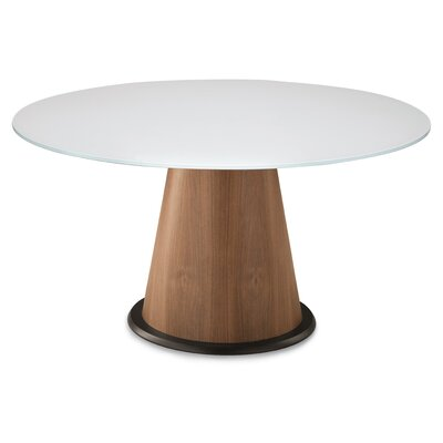 Palio 152 Dining Table Finish: Frame: Walnut / Top: Extra White Glass