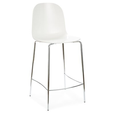 Playa 26.5 Bar Stool Upholstery: White