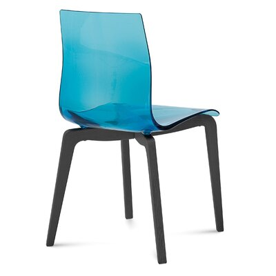 Gel-L Side Chair (Set of 2) Color: Smoke, Finish: Walnut