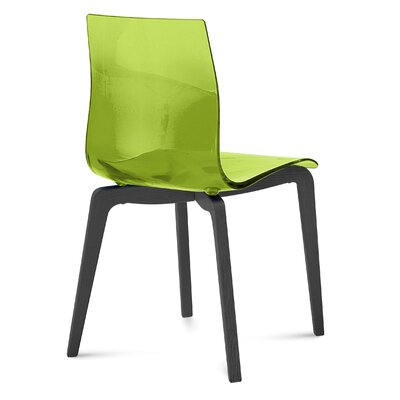 Gel-L Side Chair (Set of 2) Finish: Anthracite, Color: Green