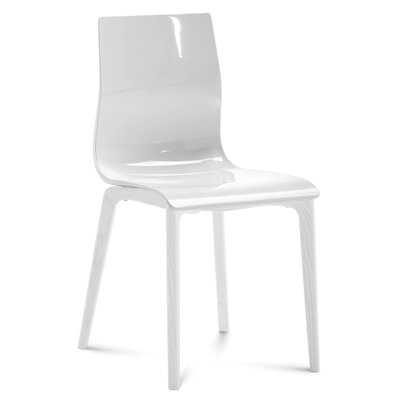 Gel Dining Chair (Set of 2) Frame Color: White, Leg Color: White
