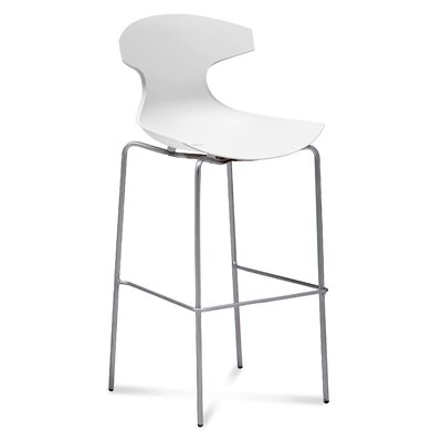 Echo 29 Bar Stool Upholstery: White