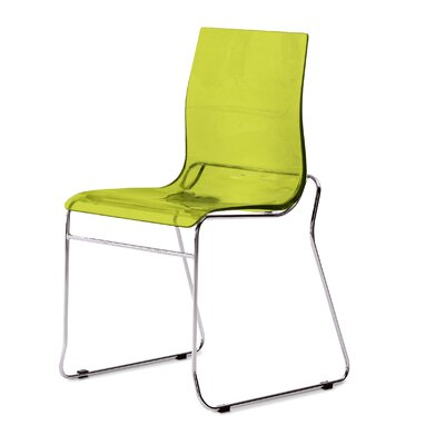 Gel Side Chair (Set of 2) Color: Transparent Green