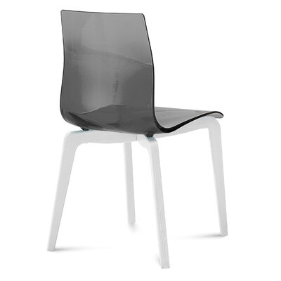 Gel Dining Chair (Set of 2) Frame Color: Smoke, Leg Color: White