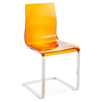 Gel SL Dining Chair (Set of 2) Finish: Orange