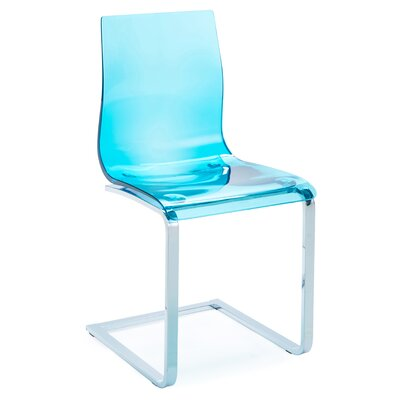 Gel SL Dining Chair (Set of 2) Finish: Transparent Blue