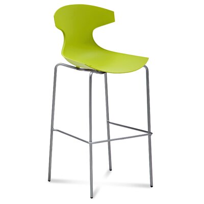 Gologan Bar Stool Color: Green