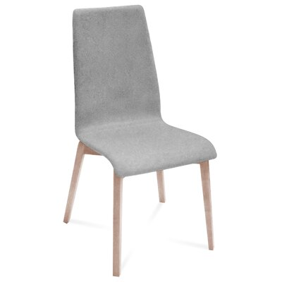 Jill-L Side Chair (Set of 2) Upholstery: Nordwool Light Grey, Finish: White Ash