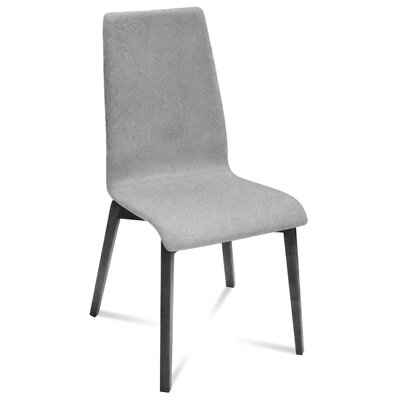 Jill-L Side Chair (Set of 2) Finish: Anthracite, Upholstery: Light Grey