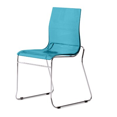 Gel Side Chair (Set of 2) Color: Transparent Blue