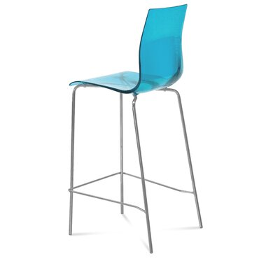 Gel 27.3 inch Bar Stool Upholstery: Transparent Blue