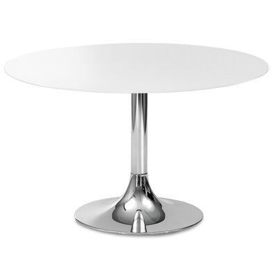 Decius Dining Table Table Base Color: Chrome
