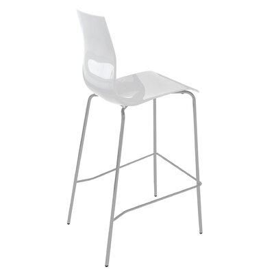 Gel 27.3 inch Bar Stool Upholstery: White