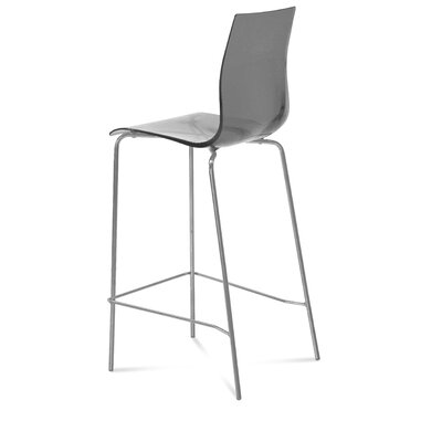 Gel 27.3 Bar Stool Upholstery: Transparent Smoke
