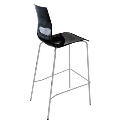 Gel 27.3 Bar Stool Upholstery: Black