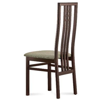 Scala Dining Chair (Set of 2) Finish: Cherry, Upholstery: Toulouse Black