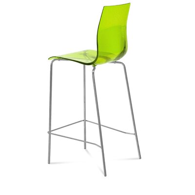 Gel 27.3 Bar Stool Upholstery: Transparent Green