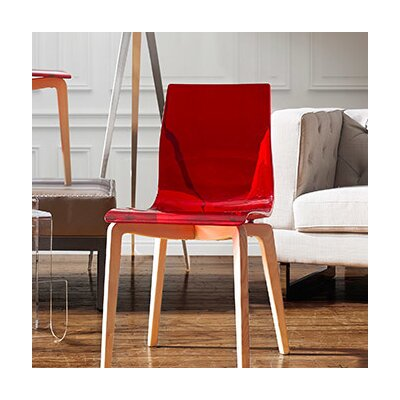 Gel-L Side Chair Finish: Transparent Red