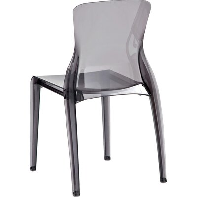 Crystal Side Chair (Set of 4) Finish: Transparent Smoke