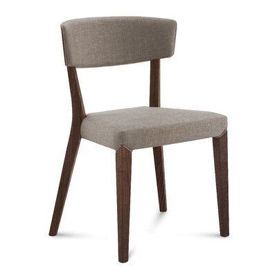 Dipaolo Upholstered Dining Chair Upholstery: Sand, Finish: Chocolate