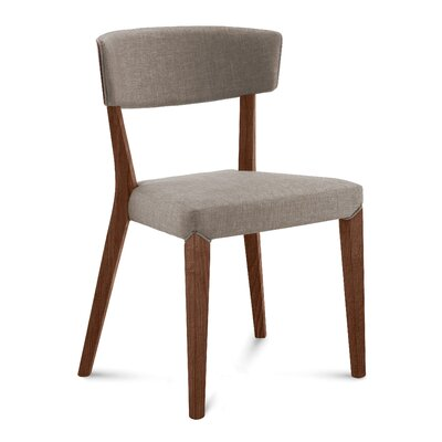 Dipaolo Upholstered Dining Chair Upholstery: Sand, Finish: Walnut