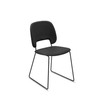 Ravsten Upholstered Dining Chair Upholstery: Black, Finish: Black