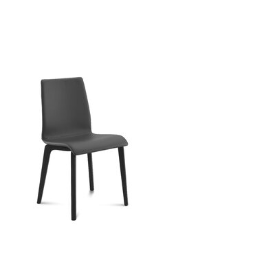 Jude-L Upholstered Dining Chair (Set of 2) Upholstery: Skill Black, Frame Finish: Anthracite