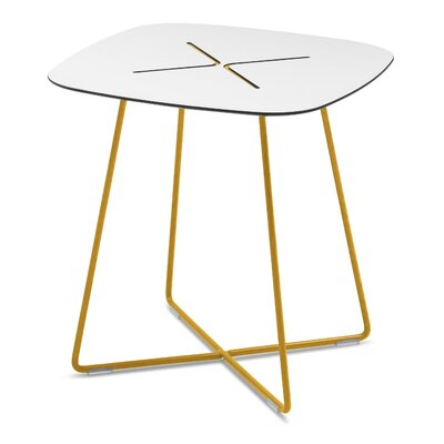 Henrie Cross End Table Color: Sand
