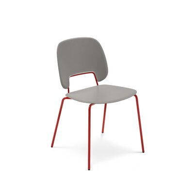 Ravsten Upholstered Dining Chair Upholstery: Sand, Finish: Red