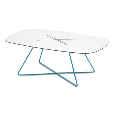 Garlough Cross Coffee Table Finish: Turquoise