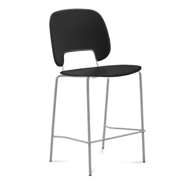 Bogovic Bar Stool Upholstery: Light Gray, Color: Chrome