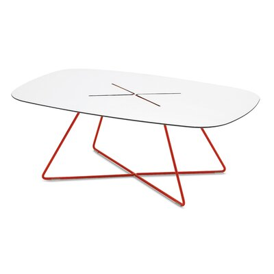 Cross-r Coffee Table Color: Red