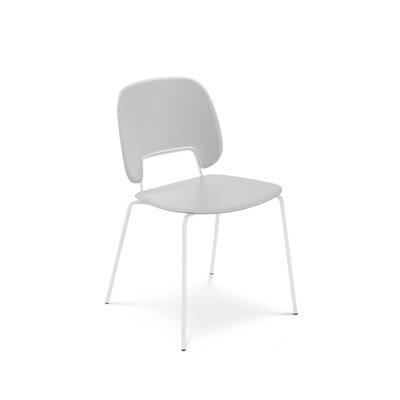 Ravsten Upholstered Dining Chair Upholstery: Light Gray, Finish: White