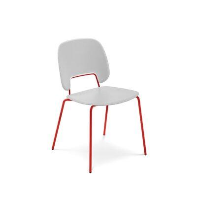 Ravsten Upholstered Dining Chair Upholstery: Light Gray, Finish: Red